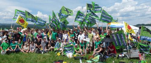 JGS am Menschentrom gegen Atom 2011 in Kleindöttingen